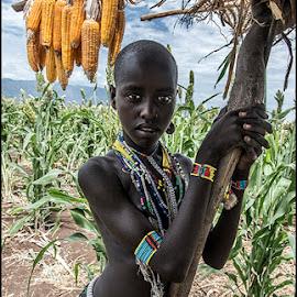 Arbore tribe by Damjan Voglar - People Portraits of Women ( portrait girl travel tribe arbore africa )