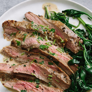 Flank Steak with Bourbon Cream Sauce.