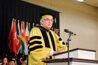 Photo: Surprise faculty speaker was Political Science and International Studies professor Herb Smith