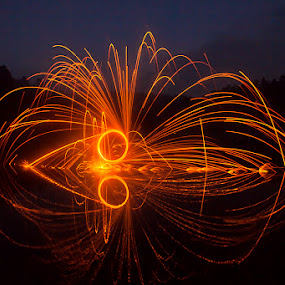 light of cuttlefish by Abah otox Baratawiria - Abstract Fire & Fireworks