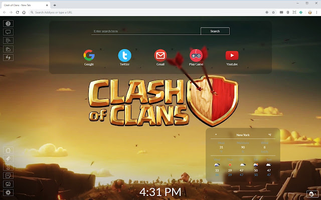 Clash of Clans New Tab