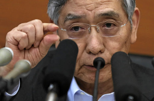 Bank of Japan governor Haruhiko Kuroda attends a news conference after a policy meeting, at the central bank's headquarters in Tokyo, on July 31 2018. Picture: REUTERS