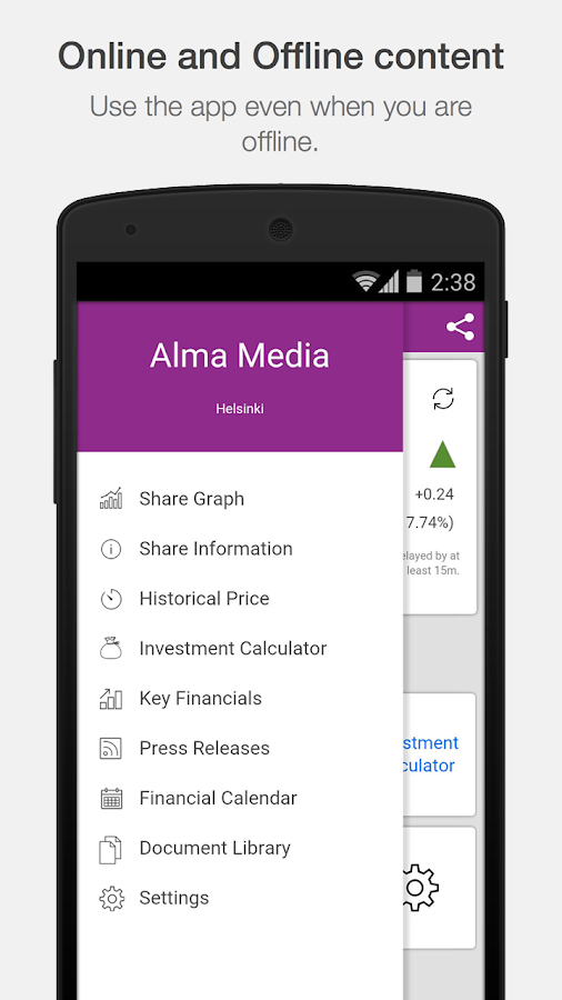 Alma Media Investor Relations- screenshot
