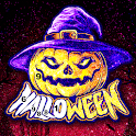 Adult Halloween Glitter Painting Book icon
