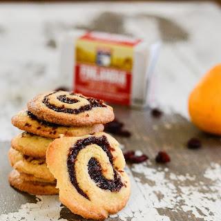 Cranberry Raspberry Pinwheel Cookies.