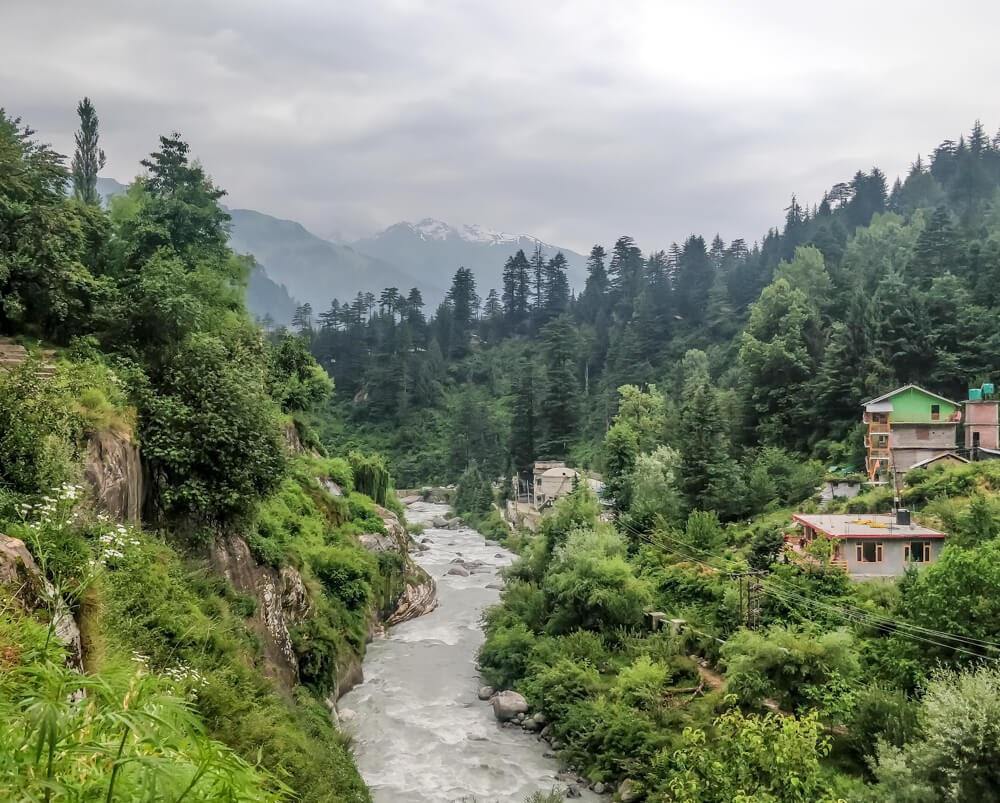 beas river manali himachal pradesh india