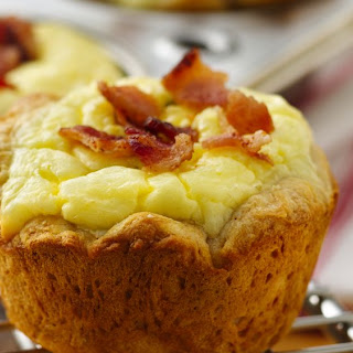 Bacon Quiche Biscuit Cups.