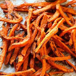 Extra Crispy Baked Sweet Potato Fries