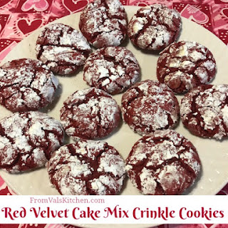 Red Velvet Cake Mix Crinkle Cookies.