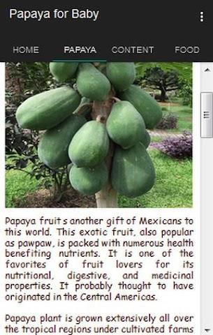 android Papaya for Baby Screenshot 1