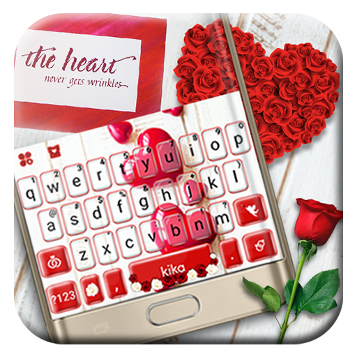 Red Valentines Love Keyboard Theme Android APK Download Free By Powerful Phone