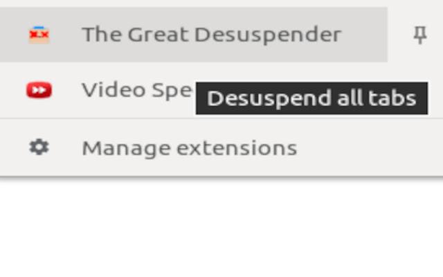 The Great Desuspender