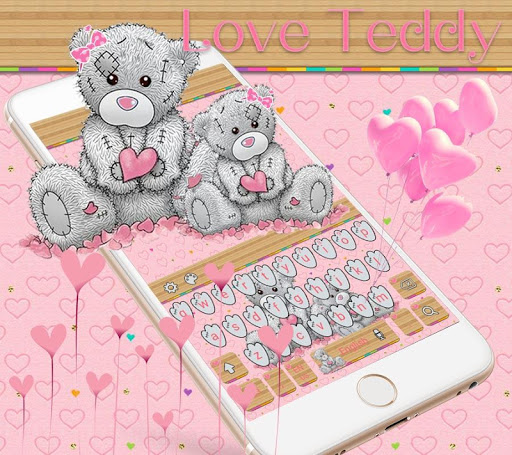 Teddy Bear Keyboard Theme Cute Bear in love 10001002 screenshots 1