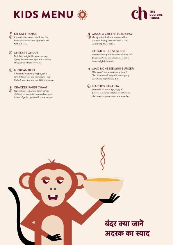The Culture House menu 6