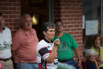 Photo: Mary making her points
