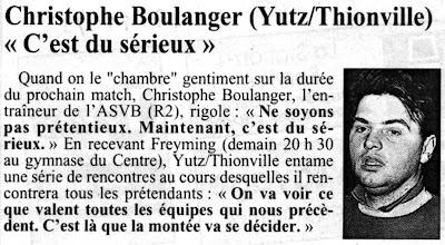 Photo: 17-11-95 R2M Christophe Boulanger croit en son équipe