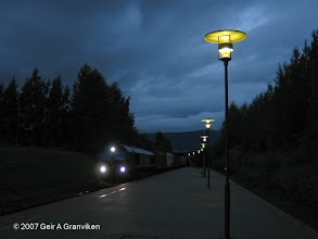 Photo: CD66 with Cargonet freight train passing the station at Trondheim airport, Værnes