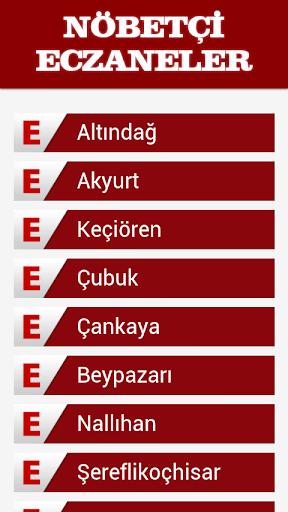 Nöbetçi Eczaneler Ankara