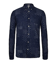 Photo: Daito Shirt>>  UK>http://bit.ly/NgzBqP US>http://bit.ly/Ngzxr0  The Daito Shirt is a 100% cotton, printed long sleeve shirt. This style uses Japanese shuttle loom fabric and features a classic button down collar with a left chest pocket. The Daito Shirt has undergone a heavy launder for a soft hand feel.