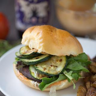 Blackened Portobello Burger (dairy free + vegetarian).
