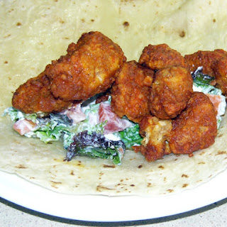 Spicy Buffalo Chicken and Garden Salad Wraps
