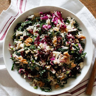 Raw Cauliflower Couscous with Kale.