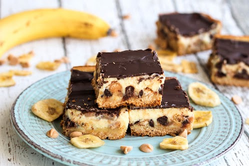 Chocolate Peanut Butter Banana Gooey Bars