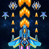 Galaxy sky shooting icon