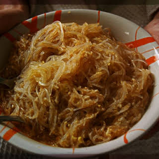 Super easy Tom Yum Vermicelli with egg.