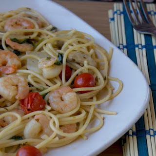 Easy Marinated Shrimp & Pasta