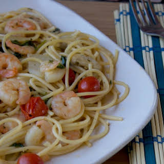 Easy Marinated Shrimp & Pasta.