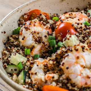 Quinoa Tabbouleh with Spicy Shrimp