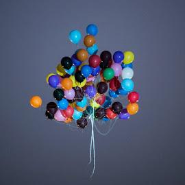 Baloons by Suresh Nair - City,  Street & Park  Street Scenes