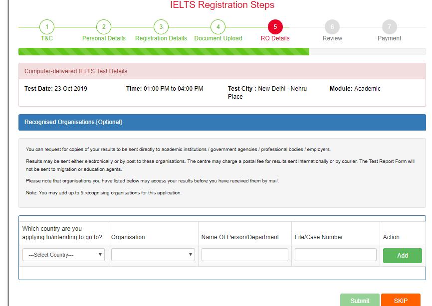 IELTS Exam Registration Steps