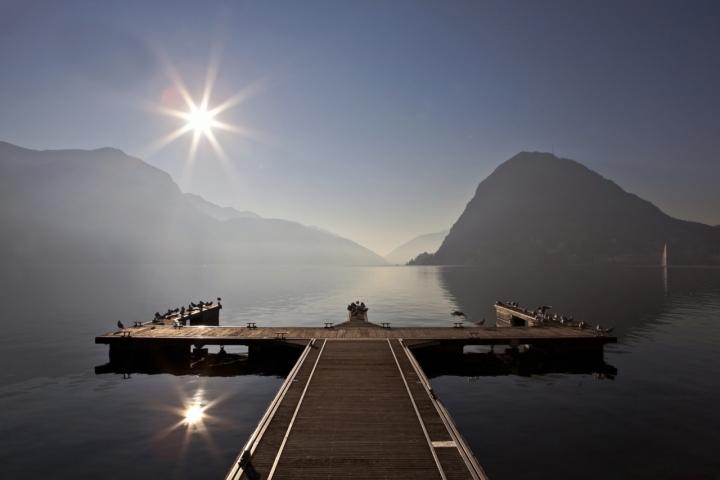 Lago di Lugano di Ticino-Joana