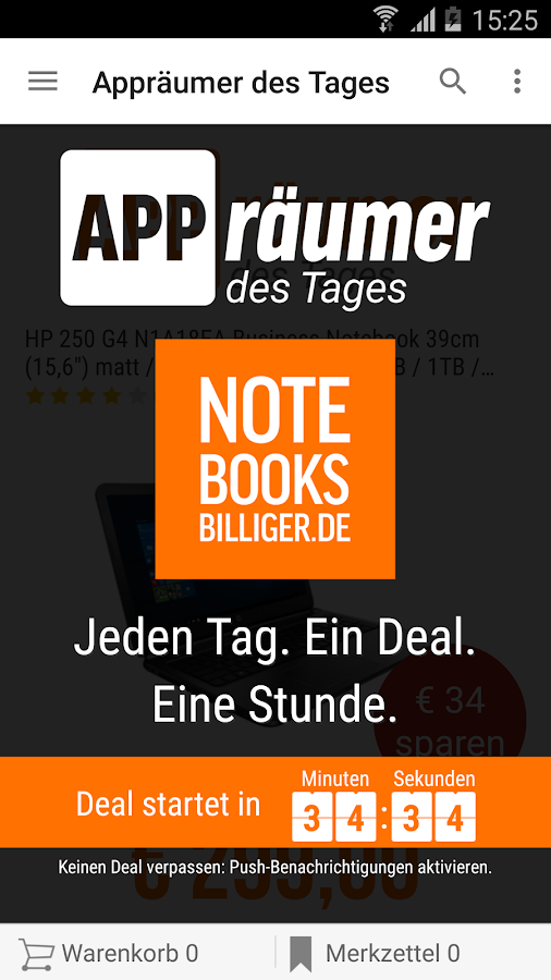notebooksbilliger.de App – Screenshot
