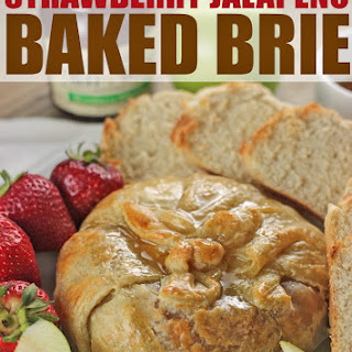 Strawberry Jalapeno Baked Brie