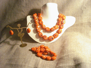 Photo: <BEREHYNYA> {Great Goddess Protectress} unique one-of-a-kind statement jewellery by Luba Bilash ART & ADORNMENT  Coral, 14k gold vermeil NFS