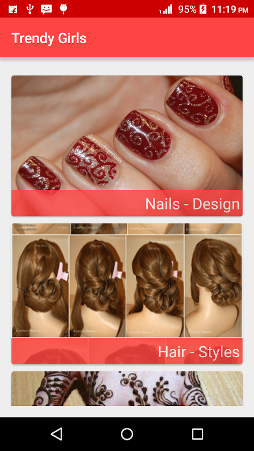 Hair StylesNail PaintMehendi Android Apps On Google Play - Hairstyle design dikhaye