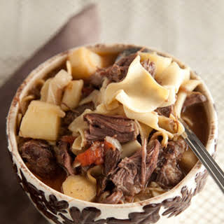 Hearty Beef and Noodle Soup.