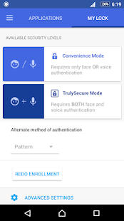 AppLock Face/Voice Recognition Screenshot