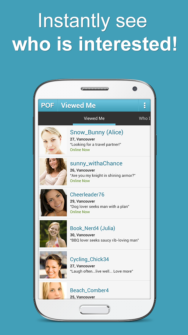 POF Free Dating App screenshot #5