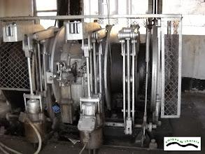 Photo: Maquinaria del malacate de Filón Norte. Utilizado principalmente para acudir a la sala de bombas o para bajar y subir material
