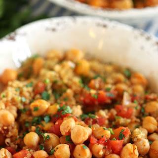 Spicy Chickpea and Quinoa Bowl.