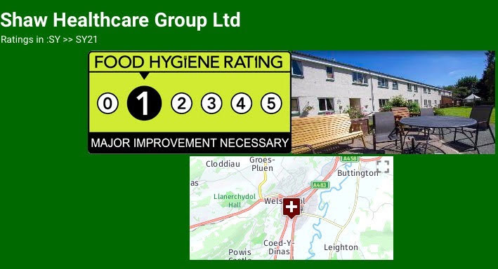 Damning food hygiene report for care home