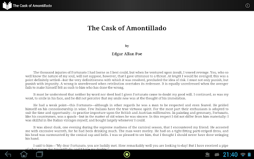 the cask of amontillado by edgar allan poe book report Don't really know why the cask of amontillado is titled the cask of amontillado don't worry, we're here to tell you why it's like that.