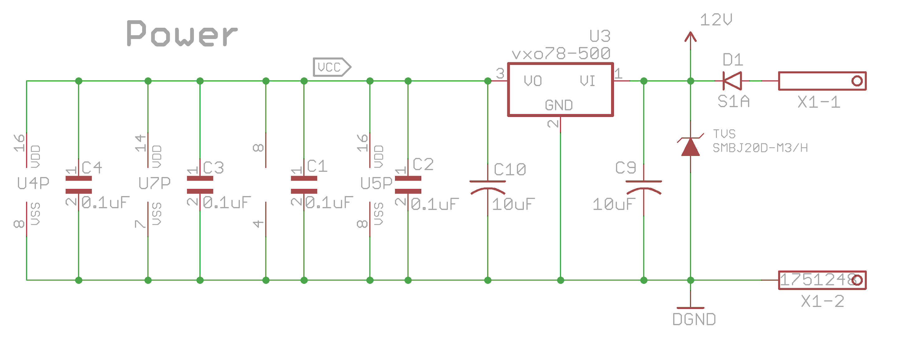 Tvs Diode Layout Considerations For Automotive Application Page 1 Wire Harness Board I Am Using The Following Power Design A Reverse Protection And 78xx Compatible Switching Dc To Converter With 500ma Capacity
