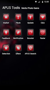 Red-APUS Launcher theme