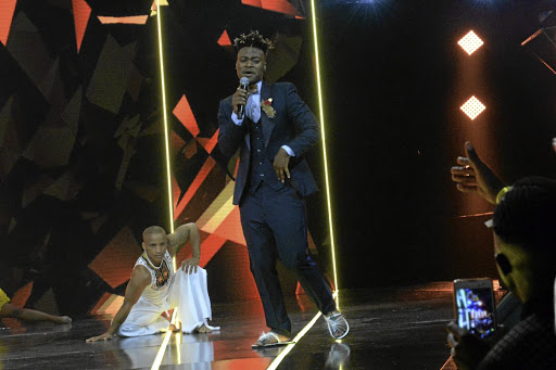 Mlindo performs during the DStv Mzansi Viewer's Choice Awards at the Sandton Convention Centre in Sandton. The event features as one of the main highlights for star's rising fortunes.