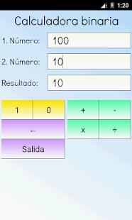 Binaria calculadora Pro Screenshot